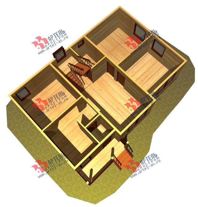 двухэтажный дом из бруса площадью от 150 до 200 кв. м. с  балконом, мансардой, проект Вариант 8.7 К фотография 2142