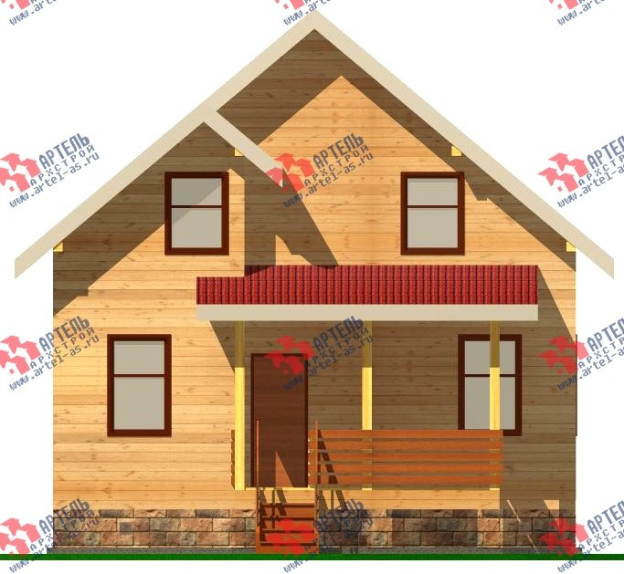 двухэтажный дом из бруса площадью от 100 до 150 кв. м. с  мансардой, эркером, проект Вариант 8.2 А фотография 2179