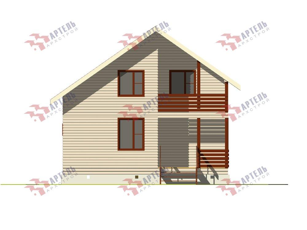 двухэтажный дом из профилированного бруса площадью до 100 кв. м. с  балконом, мансардой, проект Вариант 7.5 Д фотография 5756
