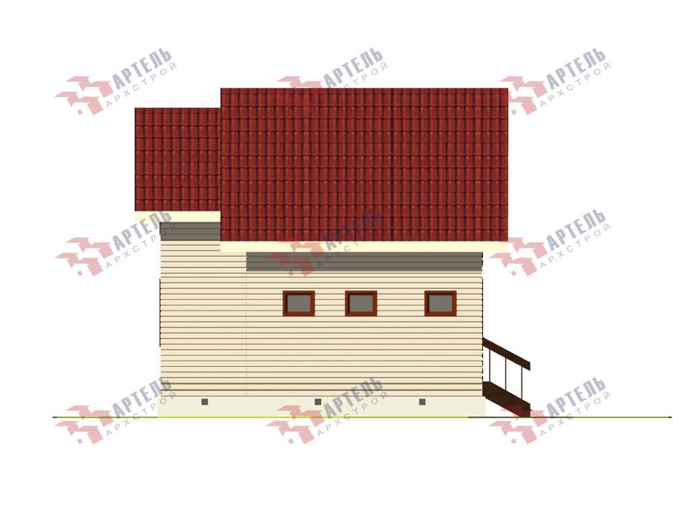 двухэтажный дом из профилированного бруса площадью до 100 кв. м. с  балконом, мансардой, проект Вариант 7.5 Д фотография 5757