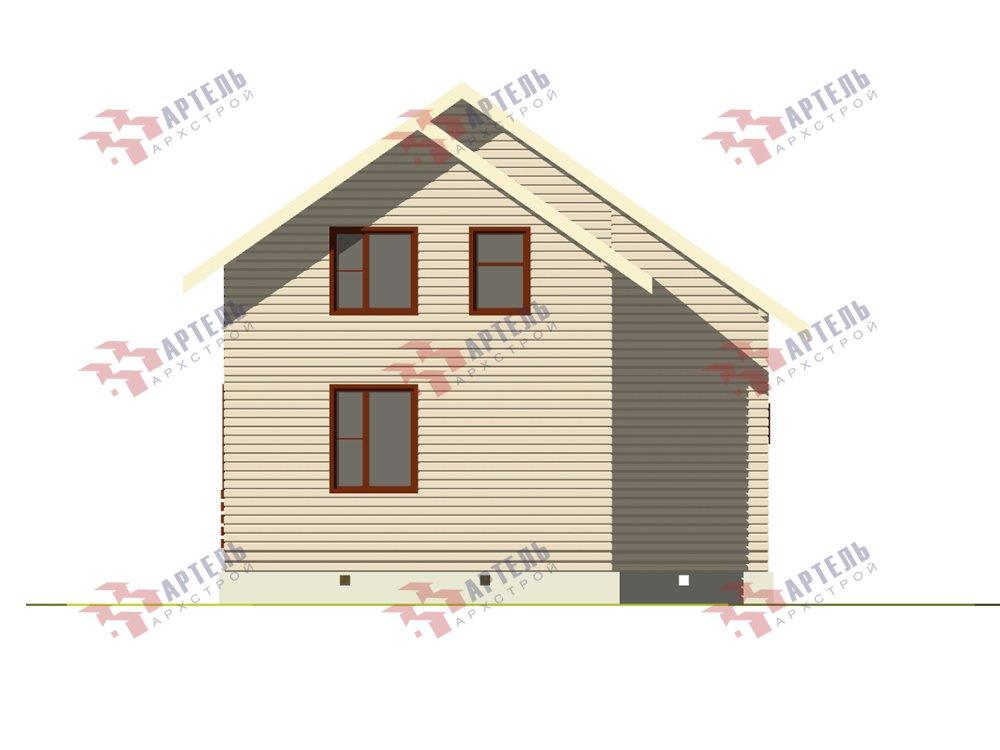 двухэтажный дом из профилированного бруса площадью до 100 кв. м. с  балконом, мансардой, проект Вариант 7.5 Д фотография 5758
