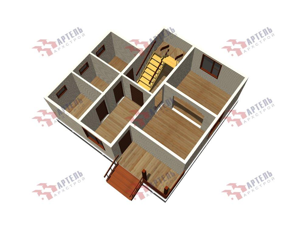 двухэтажный дом из профилированного бруса площадью до 100 кв. м. с  балконом, мансардой, проект Вариант 7.5 Д фотография 5765