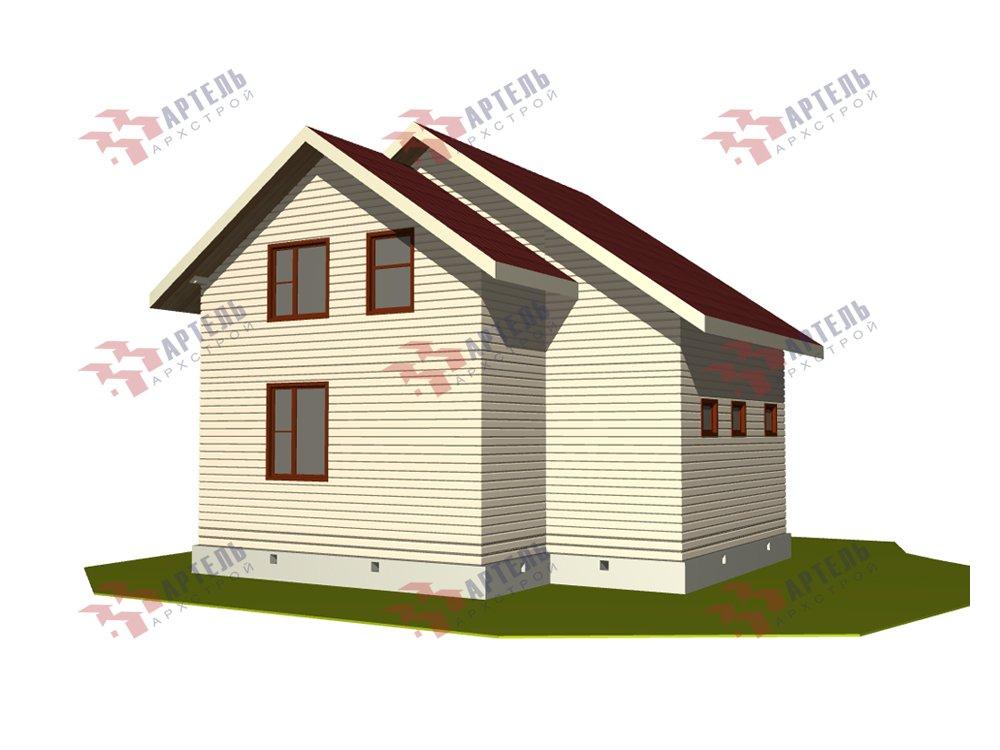 двухэтажный дом из профилированного бруса площадью до 100 кв. м. с  балконом, мансардой, проект Вариант 7.5 Д фотография 5761