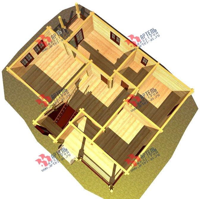 двухэтажный дом из бруса площадью свыше 200 кв. м. с  балконом, мансардой, проект Вариант 11.4 А фотография 128