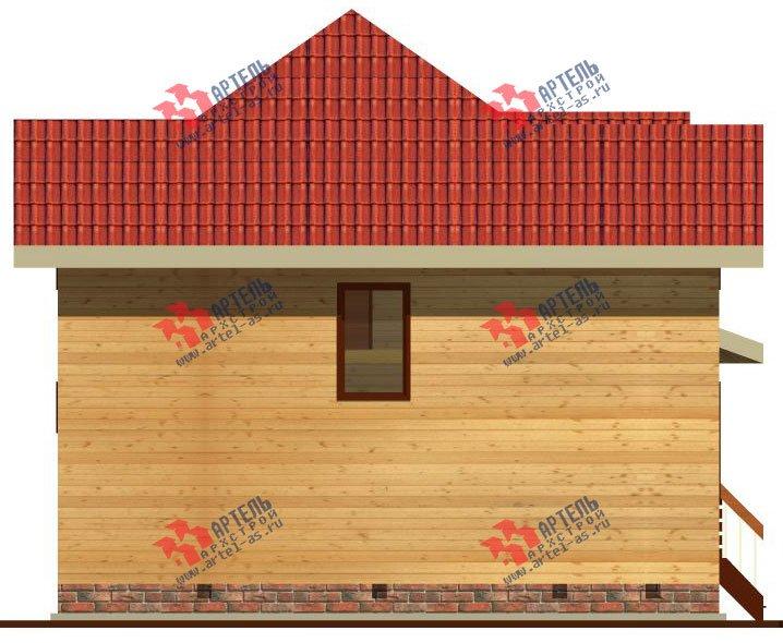 двухэтажный дом из бруса площадью от 100 до 150 кв. м. с  мансардой, эркером, проект Вариант 9 Г фотография 2204