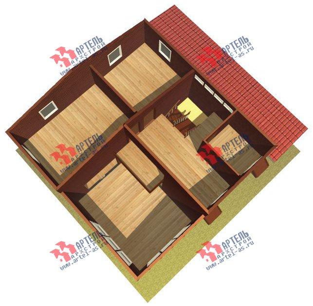 двухэтажный дом из бруса площадью от 150 до 200 кв. м. с  мансардой, проект Вариант 12.2 А фотография 2211