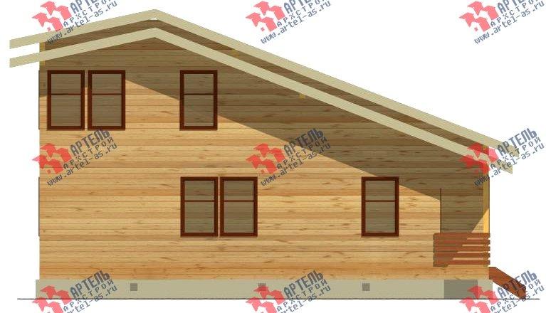 двухэтажный дом из бруса площадью свыше 200 кв. м. с  балконом, проект Вариант 10.7 А фотография 2248