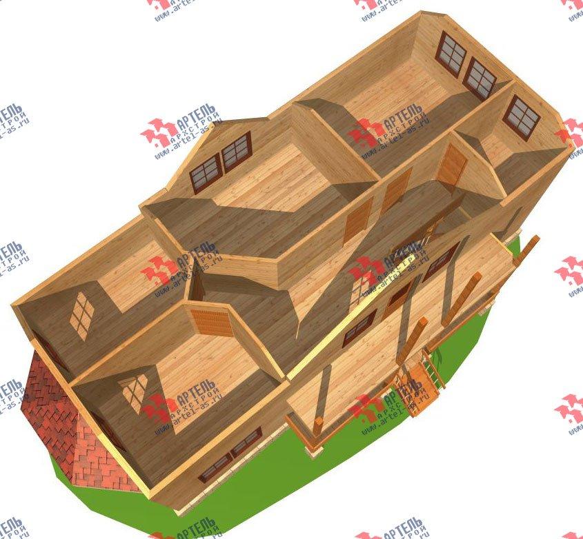 двухэтажный дом из бруса площадью от 150 до 200 кв. м. с  балконом, проект Вариант 6 О-1 фотография 2275