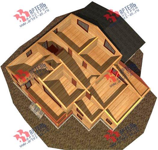 двухэтажный дом из бруса площадью свыше 200 кв. м. с  балконом, мансардой, террасой, проект Вариант 18 А фотография 2416