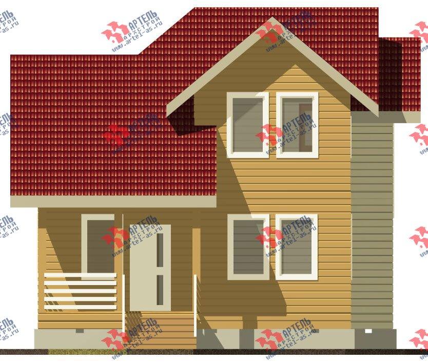 двухэтажный дом из профилированного бруса камерной сушки площадью от 100 до 150 кв. м. с  мансардой, проект Вариант 4 фотография 2510