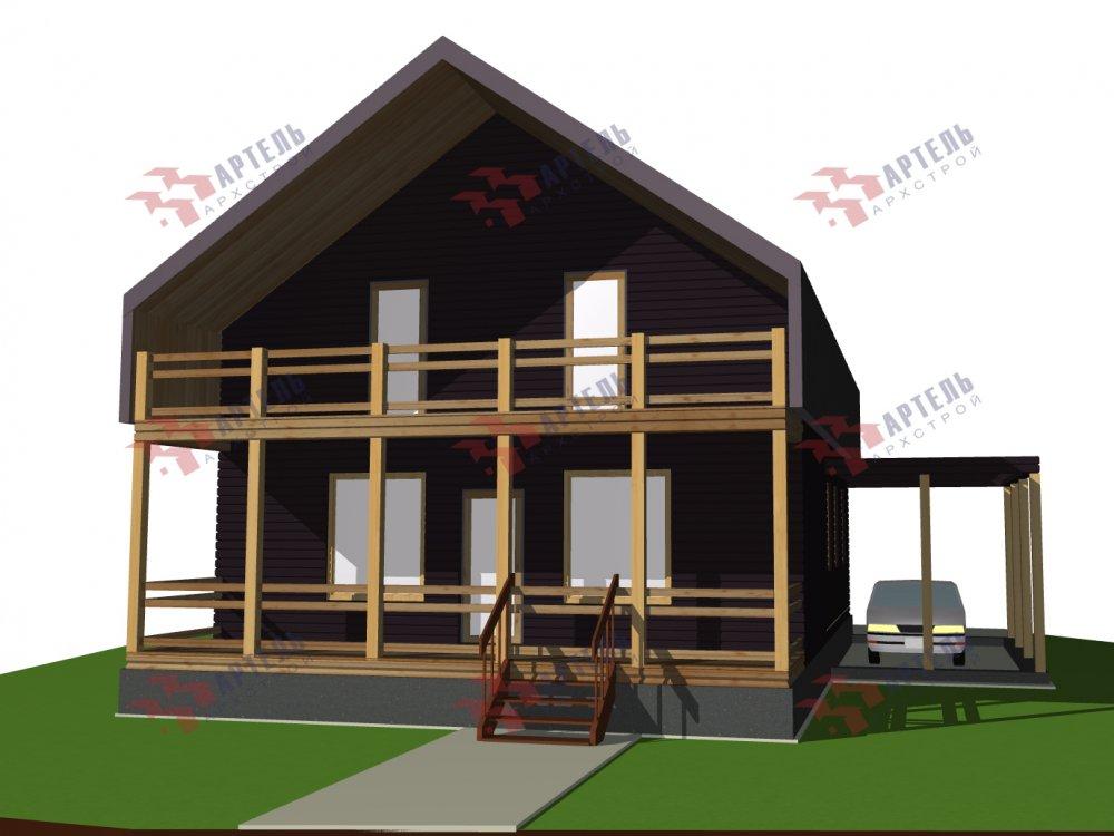 двухэтажный дом из профилированного бруса площадью до 100 кв. м. с  мансардой, эркером, проект Вариант 7 Г фотография 147