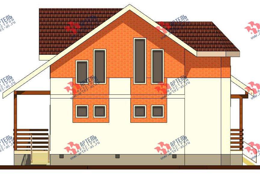 двухэтажный дом из профилированного бруса камерной сушки площадью от 150 до 200 кв. м. с  террасой, эркером, проект Вариант 8 фотография 2812
