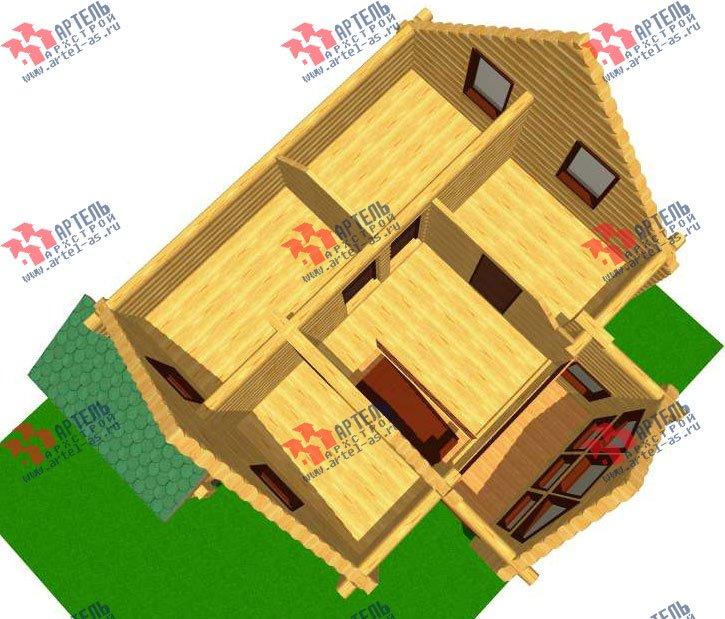 двухэтажный дом из оцилиндрованного бревна площадью от 100 до 150 кв. м. с  эркером, проект Вариант 1 фотография 3025