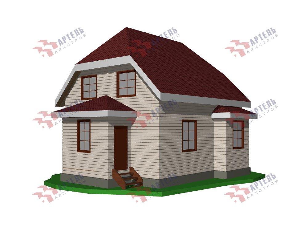двухэтажный дом из профилированного бруса площадью от 100 до 150 кв. м. с  мансардой, эркером, проект Вариант 7 И фотография 5857