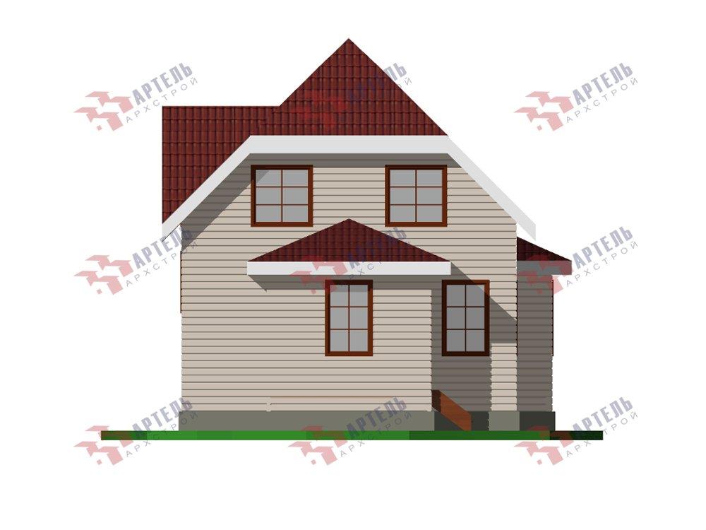 двухэтажный дом из профилированного бруса площадью от 100 до 150 кв. м. с  мансардой, эркером, проект Вариант 7 И фотография 5861