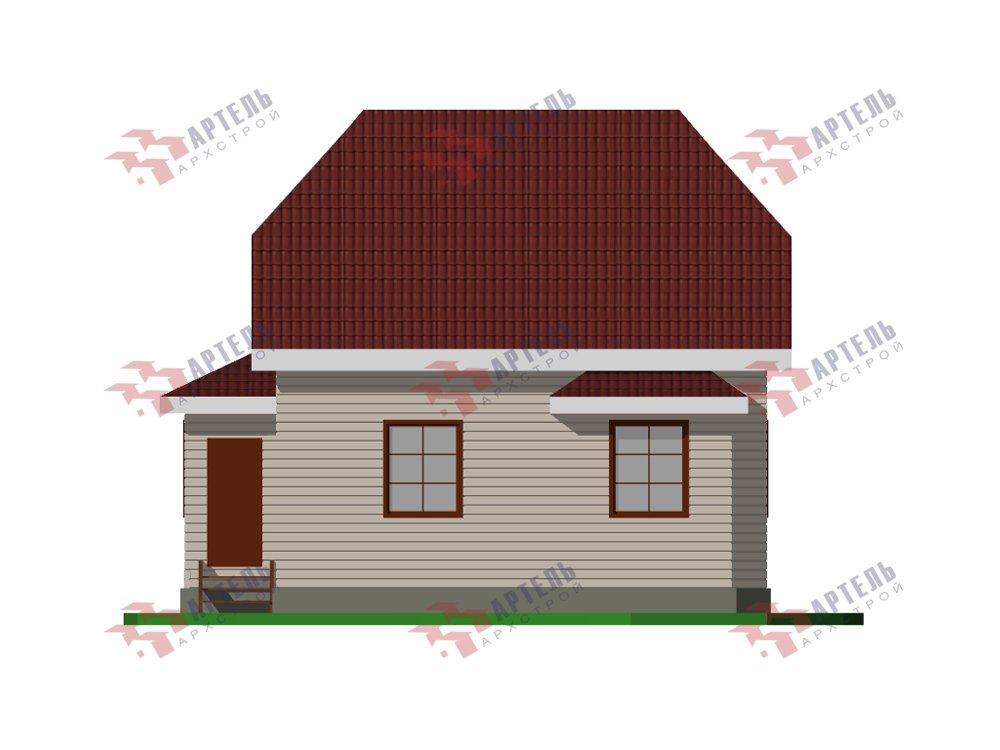 двухэтажный дом из профилированного бруса площадью от 100 до 150 кв. м. с  мансардой, эркером, проект Вариант 7 И фотография 5862
