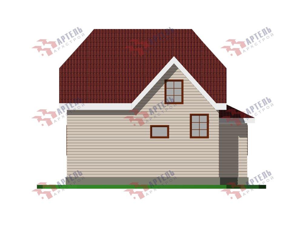 двухэтажный дом из профилированного бруса площадью от 100 до 150 кв. м. с  мансардой, эркером, проект Вариант 7 И фотография 5864