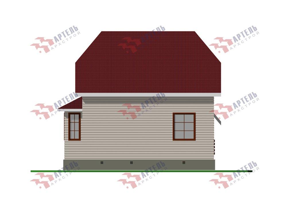 двухэтажный дом из профилированного бруса площадью до 100 кв. м. с  мансардой, эркером, проект Вариант 7 Г фотография 5809