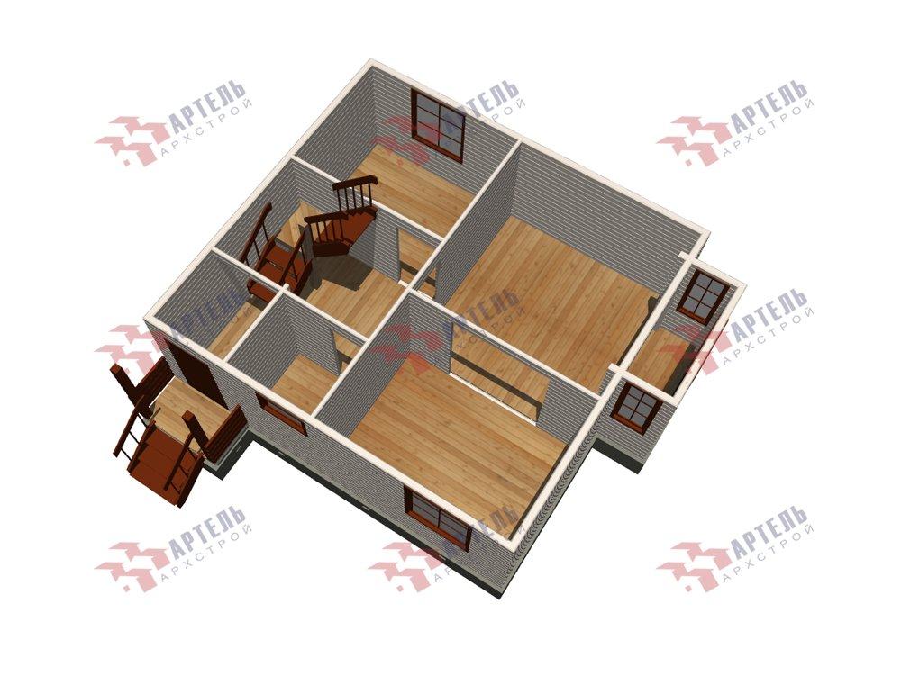 двухэтажный дом из профилированного бруса площадью до 100 кв. м. с  мансардой, эркером, проект Вариант 7 Г фотография 5814