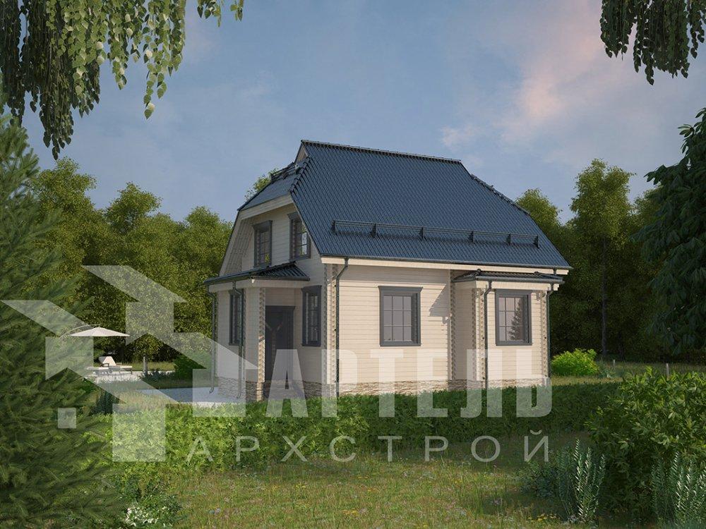 двухэтажный дом из профилированного бруса площадью от 100 до 150 кв. м. с  мансардой, эркером, проект Вариант 7 И фотография 3974