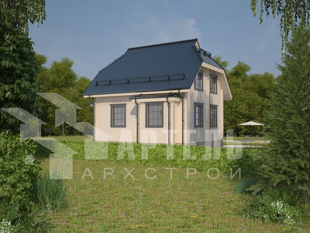 двухэтажный дом из профилированного бруса площадью от 100 до 150 кв. м. с  мансардой, эркером, проект Вариант 7 И фотография 3976