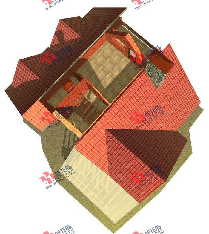 трёхэтажный дом из камня площадью свыше 200 кв. м. с  балконом, верандой, мансардой, проект Вариант 21 фотография 660