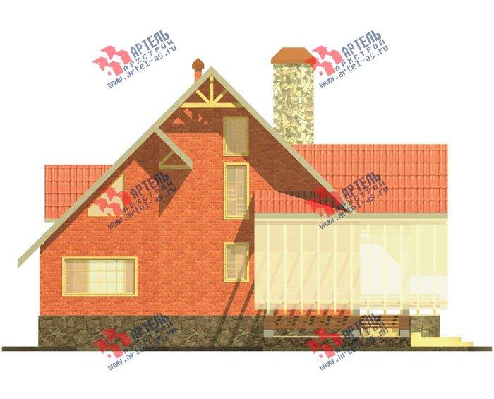 трёхэтажный дом из камня площадью свыше 200 кв. м. с  балконом, верандой, мансардой, проект Вариант 21 фотография 663