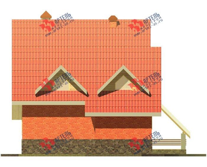 трёхэтажный дом из камня площадью свыше 200 кв. м. с  балконом, верандой, мансардой, проект Вариант 21 фотография 664