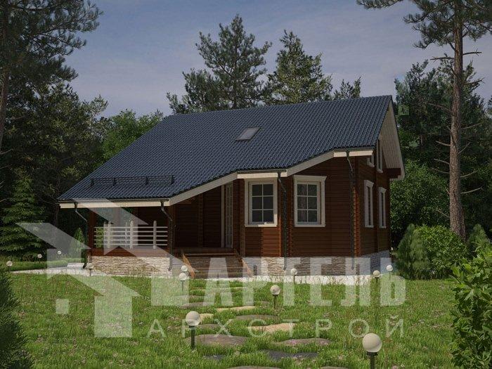 двухэтажный дом из профилированного бруса площадью от 150 до 200 кв. м. с  мансардой, террасой, проект Вариант 8.3 А фотография 4716