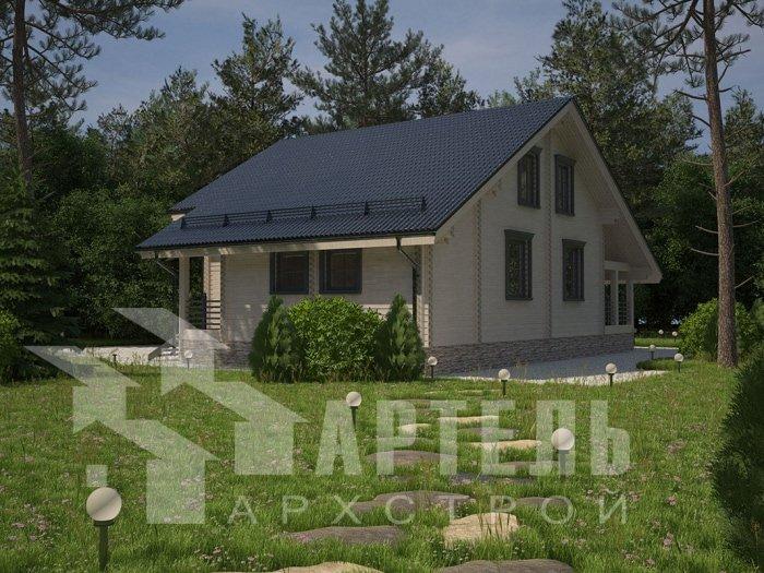 двухэтажный дом из профилированного бруса площадью от 150 до 200 кв. м. с  мансардой, террасой, проект Вариант 8.3 А фотография 4707