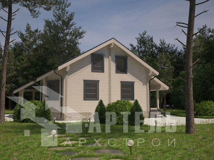 двухэтажный дом из профилированного бруса площадью от 150 до 200 кв. м. с  мансардой, террасой, проект Вариант 8.3 А фотография 4711