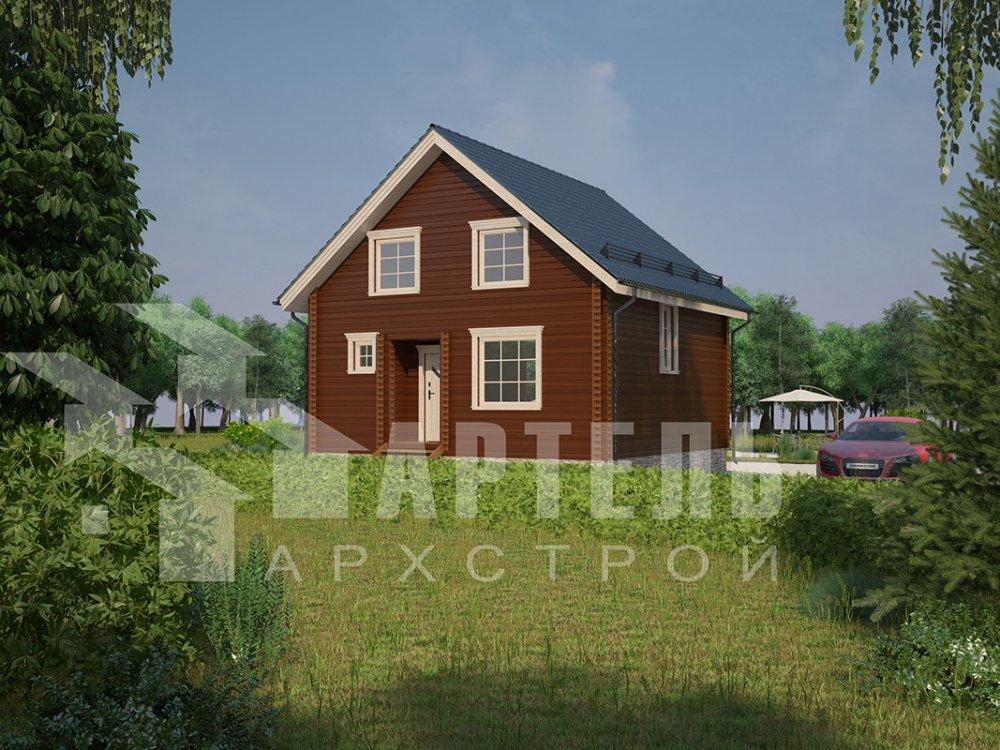 двухэтажный дом из профилированного бруса площадью от 100 до 150 кв. м. с  мансардой, эркером, проект Вариант 8.5 Б фотография 4076
