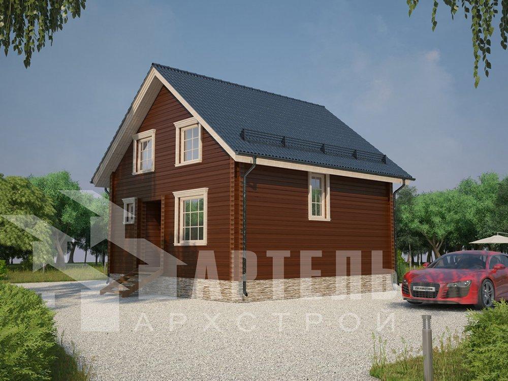 двухэтажный дом из профилированного бруса площадью от 100 до 150 кв. м. с  мансардой, эркером, проект Вариант 8.5 Б фотография 4075