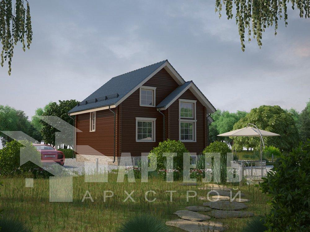 двухэтажный дом из профилированного бруса площадью от 100 до 150 кв. м. с  мансардой, эркером, проект Вариант 8.5 Б фотография 4074