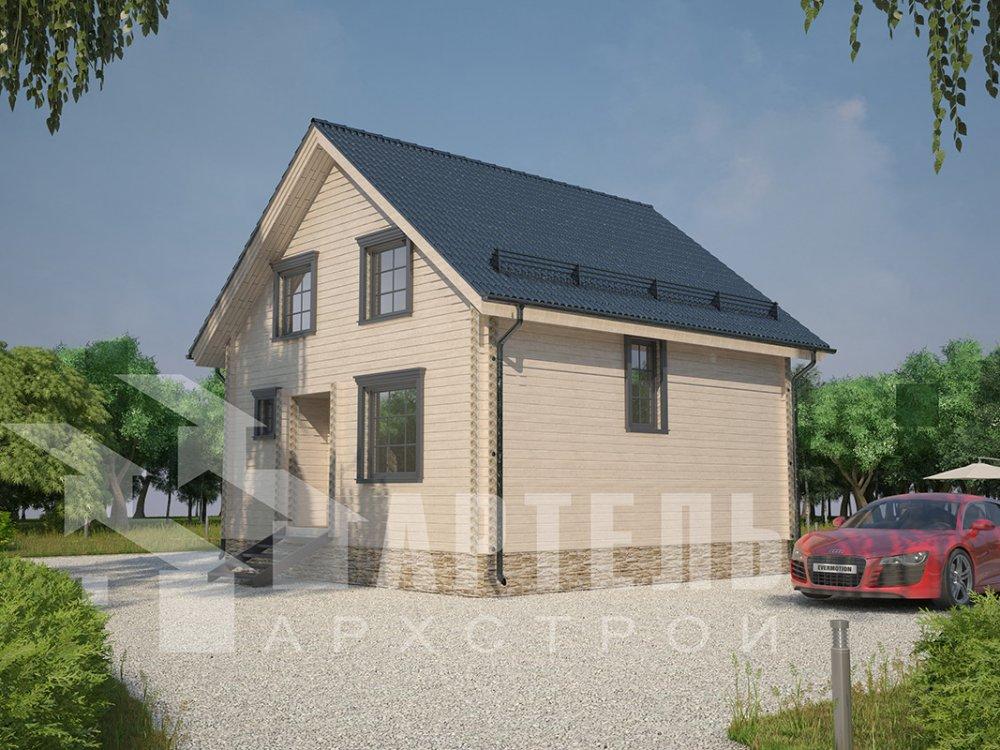 двухэтажный дом из профилированного бруса площадью от 100 до 150 кв. м. с  мансардой, эркером, проект Вариант 8.5 Б фотография 4069
