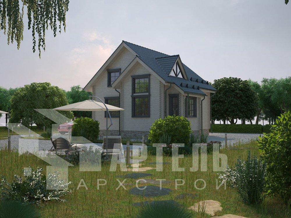 двухэтажный дом из профилированного бруса площадью от 100 до 150 кв. м. с  мансардой, эркером, проект Вариант 8.5 Б фотография 4067