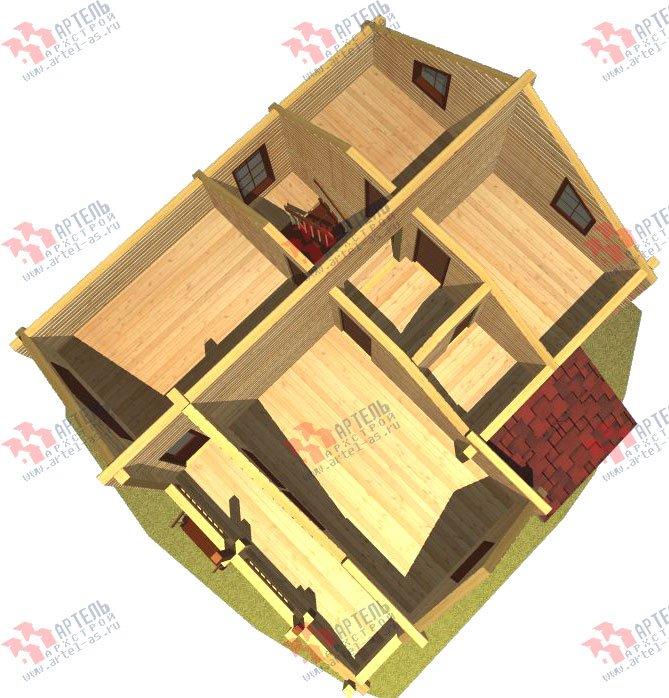 двухэтажный дом из профилированного бруса площадью от 100 до 150 кв. м. с  балконом, проект Вариант 9.5 К фотография 76
