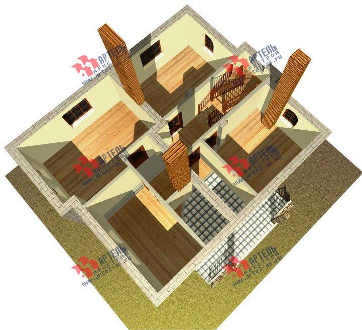 двухэтажный дом из камня площадью свыше 200 кв. м., проект Вариант 8 фотография 523