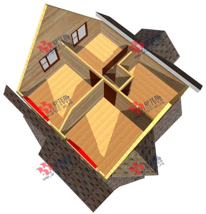 двухэтажный дом из профилированного бруса площадью до 100 кв. м. с  мансардой, эркером, проект Вариант 7 В фотография 803