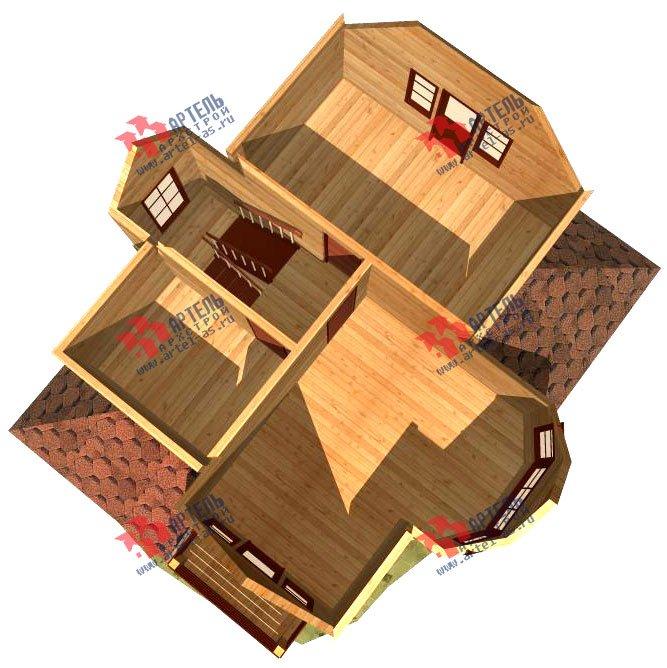двухэтажный дом из бруса площадью от 100 до 150 кв. м. с  балконом, мансардой, эркером, проект Вариант 9.3 В фотография 1134
