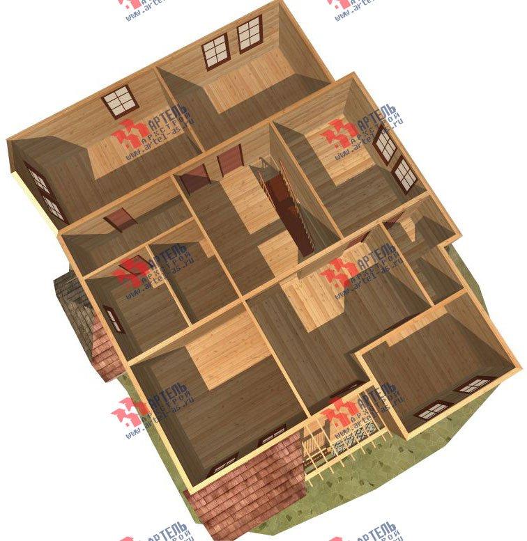 двухэтажный дом из бруса площадью свыше 200 кв. м. с  террасой, эркером, проект Вариант 15.1 А фотография 1499