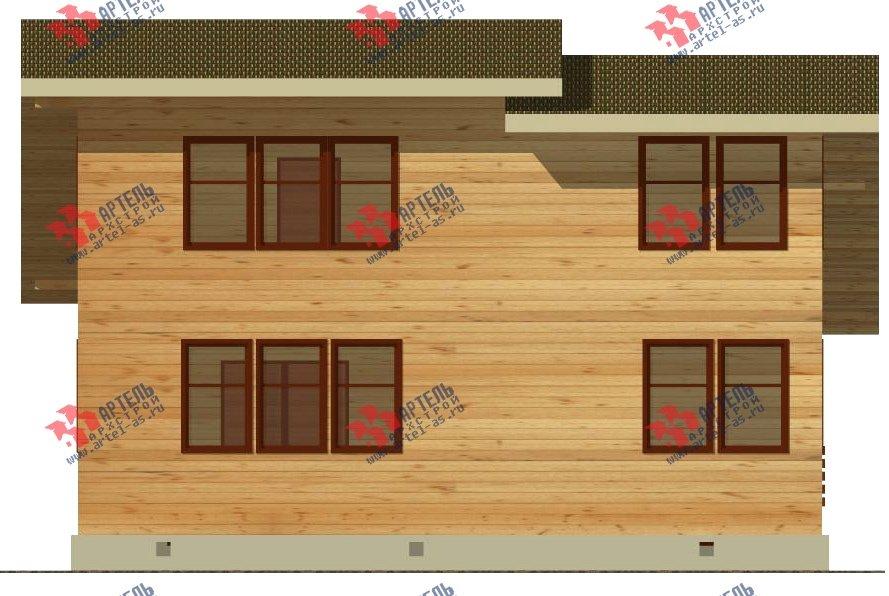 двухэтажный дом из бруса площадью свыше 200 кв. м. с  балконом, проект Вариант 10.7 А фотография 2249