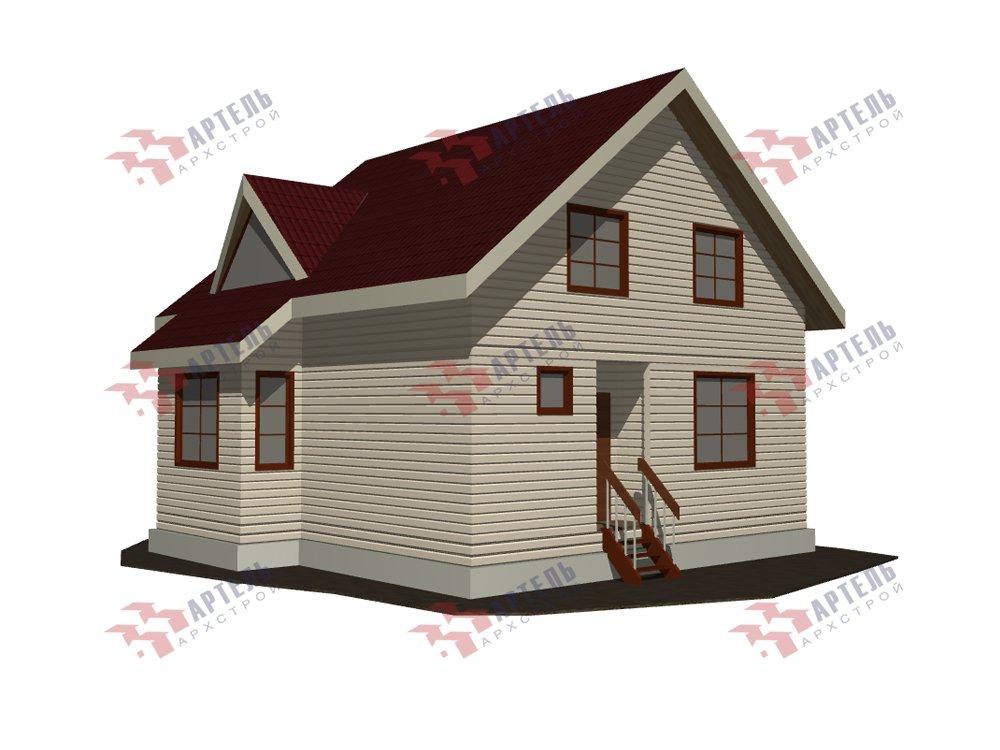 двухэтажный дом из профилированного бруса площадью от 100 до 150 кв. м. с  мансардой, эркером, проект Вариант 8.5 Б фотография 5904