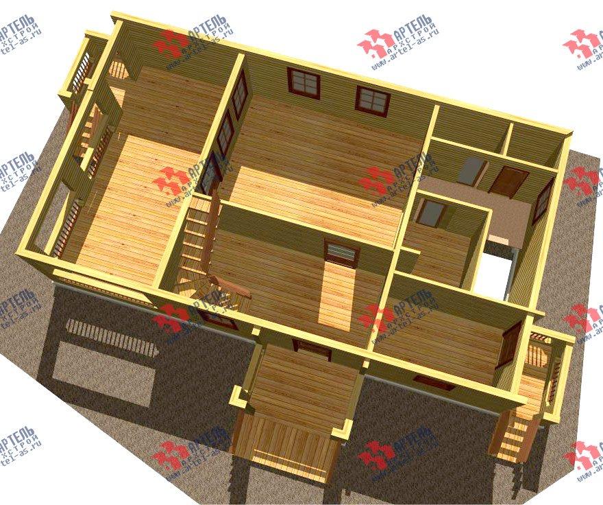 двухэтажный дом из бруса площадью свыше 200 кв. м. с  балконом, террасой, проект Вариант 8 Г-1 фотография 2485