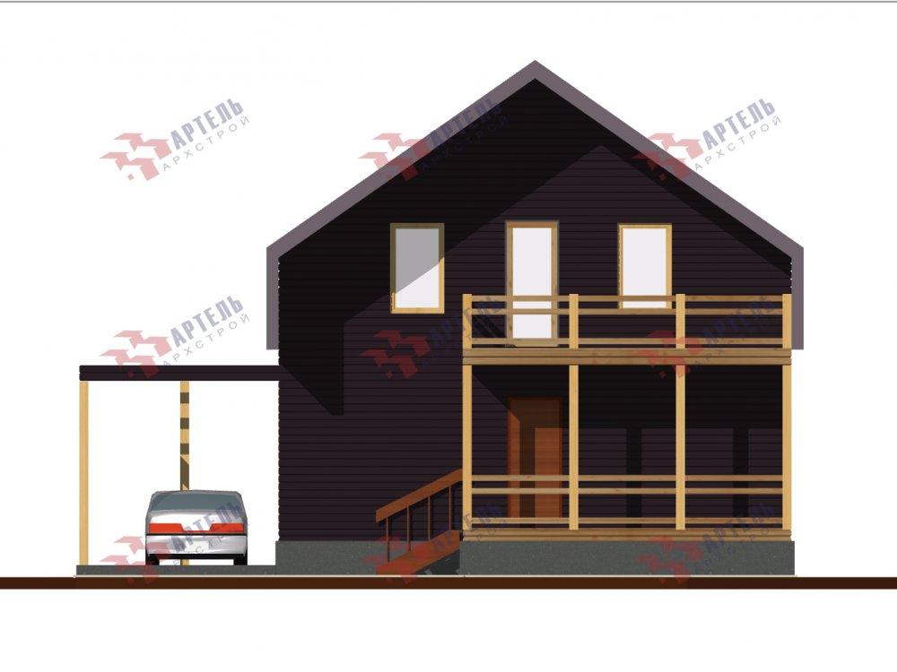 двухэтажный дом из профилированного бруса площадью до 100 кв. м. с  мансардой, эркером, проект Вариант 7 Г фотография 148