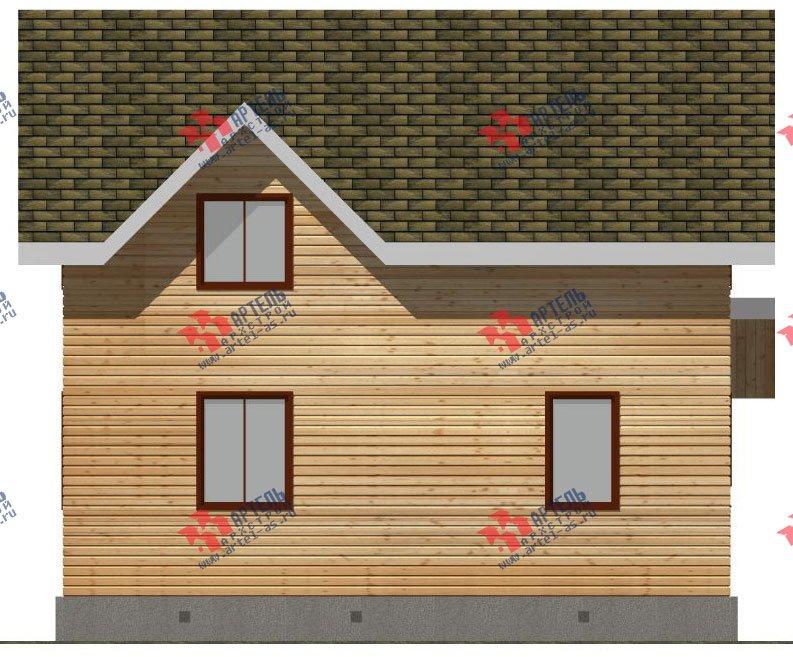 двухэтажный дом из бруса площадью от 100 до 150 кв. м. с  мансардой, проект Вариант 9 Ж-1 фотография 2571