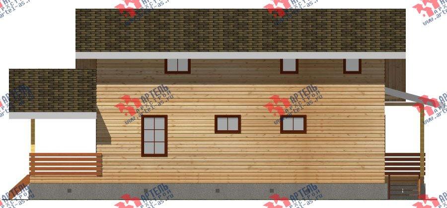 двухэтажный дом из бруса площадью свыше 200 кв. м. с  мансардой, террасой, проект Вариант 11 Л-1 фотография 2632