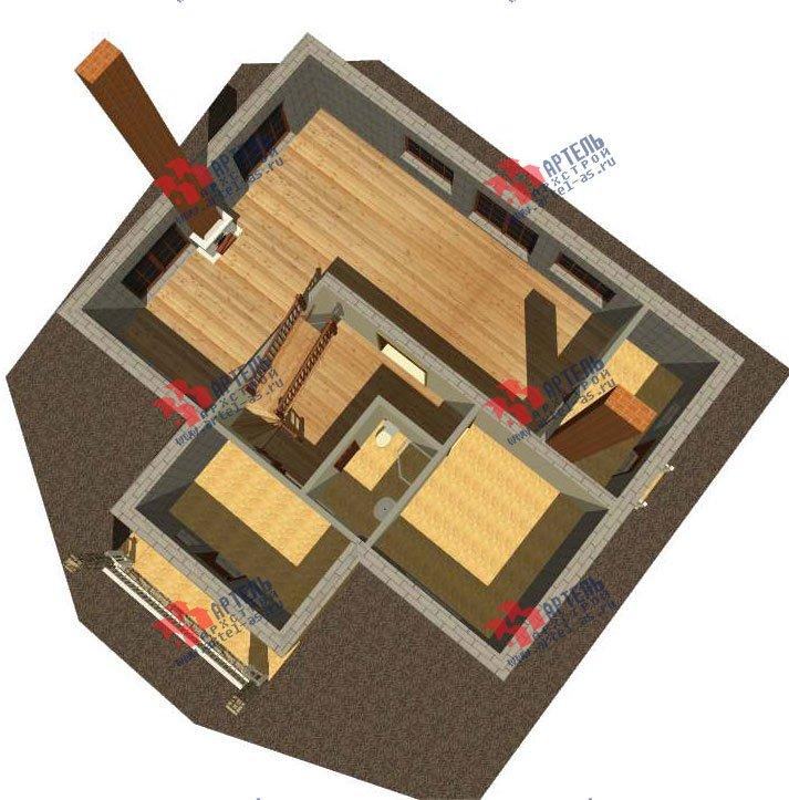 двухэтажный дом из камня площадью свыше 200 кв. м. с  верандой, проект Вариант 22 фотография 2696