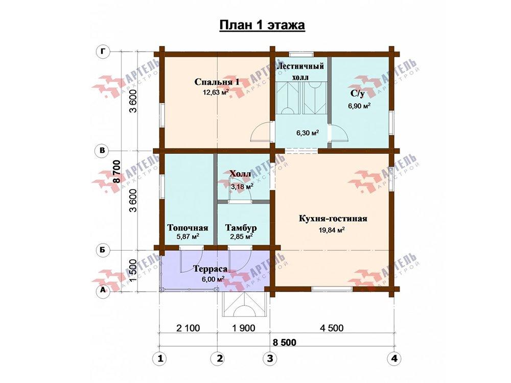 дом из профилированного бруса, проект Вариант 8,7 Б фотография 5970