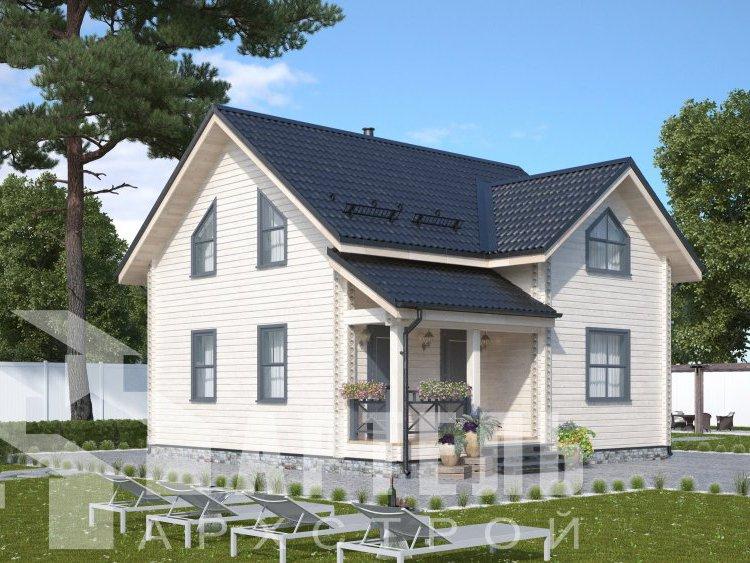 дом из профилированного бруса, проект Вариант 8,7 Б фотография 5953